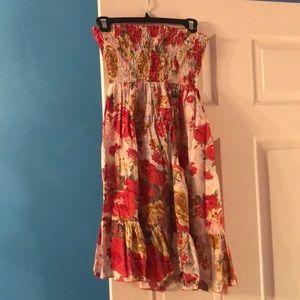 Floral tube top American Rag Fall dress